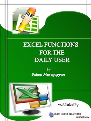 cover image of Microsoft Excel Functions Vol 1