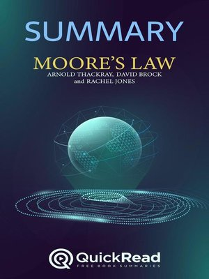 """cover image of Summary of """"Moore's Law"""" by Arnold Thackray, David Brock, and Rachel Jones"""