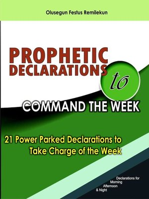 cover image of Prophetic Declarations to Command the Week