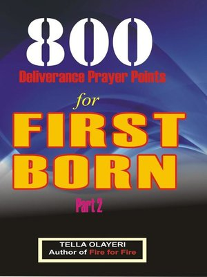 cover image of 800 Deliverance Prayer Points for First Born