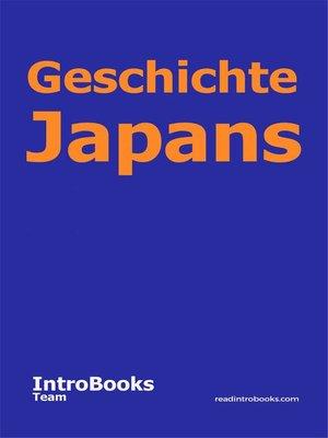 cover image of Geschichte Japans