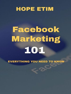 cover image of Facebook Marketing 101