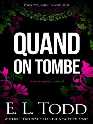 cover image of Quand on tombe