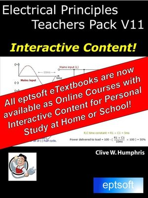 cover image of Electrical Principles Teachers Pack V11