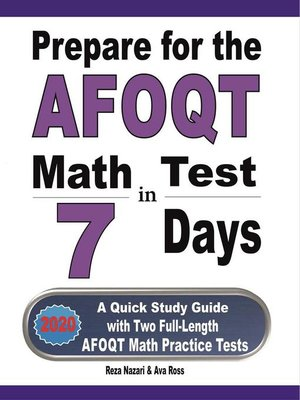 cover image of Prepare for the AFOQT Math Test in 7 Days
