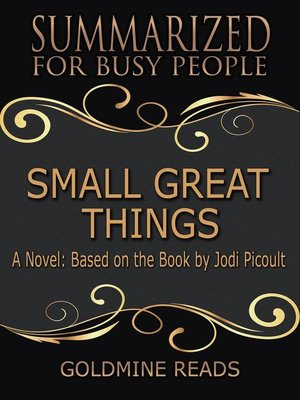 cover image of Small Great Things--Summarized for Busy People