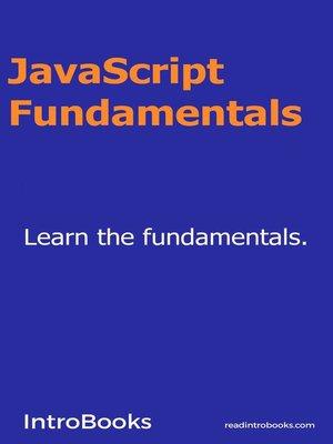 cover image of Javascript Fundamentals