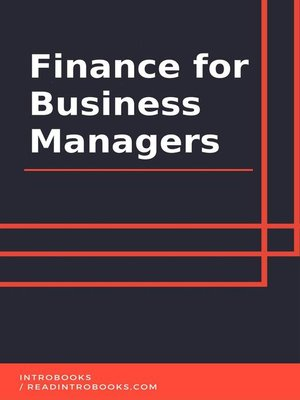 cover image of Finance for Business Managers