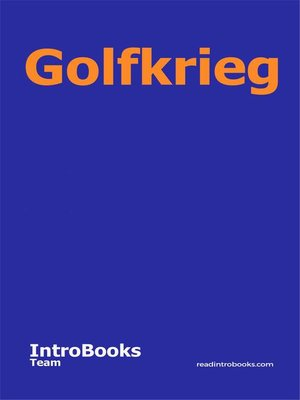 cover image of Golfkrieg