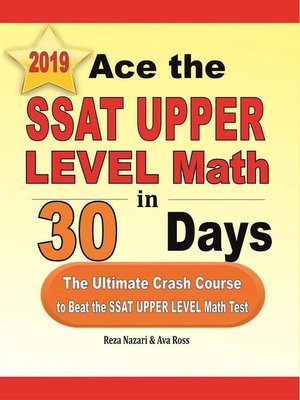 cover image of Ace the SSAT Upper Level Math in 30 Days