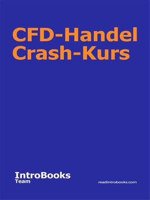 cover image of CFD-Handel Crash-Kurs