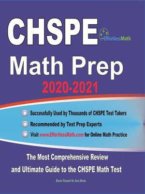 cover image of CHSPE Math Prep 2020-2021