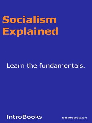 cover image of Socialism Explained