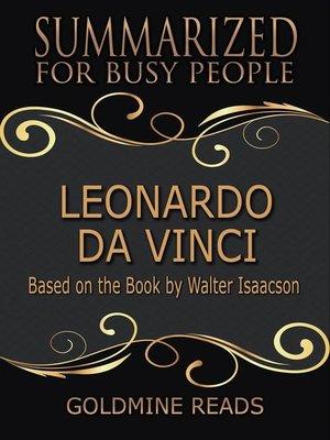 cover image of Leonardo Da Vinci--Summarized for Busy People