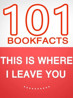cover image of This Is Where I Leave You – 101 Amazing Facts You Didn't Know