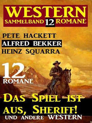 cover image of Western Sammelband 12 Romane