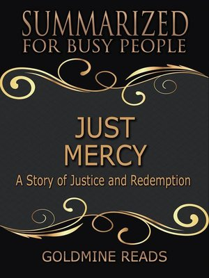 cover image of Just Mercy--Summarized for Busy People