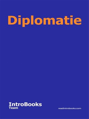 cover image of Diplomatie