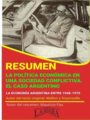 cover image of Resumen de La Política Económica en una Sociedad Conflictiva