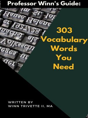 cover image of 303 Vocabulary Words You Need
