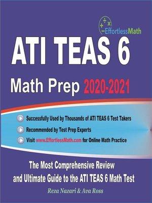 cover image of ATI TEAS 6 Math Prep 2020-2021