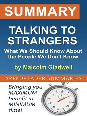 cover image of Summary of Talking to Strangers