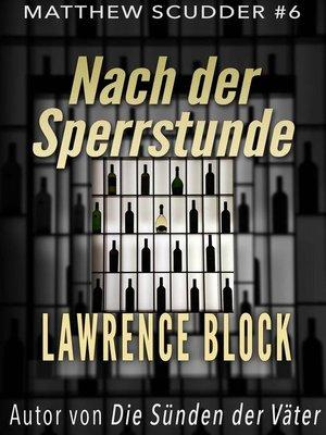 cover image of Nach der Sperrstunde