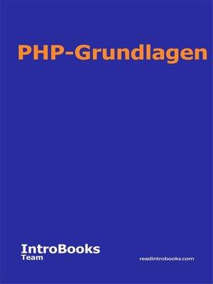 cover image of PHP-Grundlagen