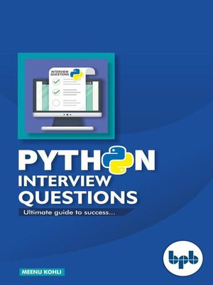 cover image of Python Interview Questions
