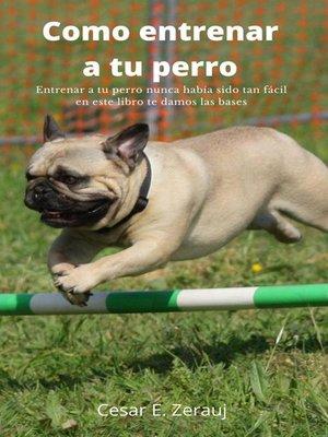 cover image of Como entrenar a tu perro   Entrenar a tu perro nunca había sido tan fácil en este libro te damos las bases