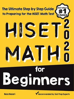 cover image of HiSET Math for Beginners