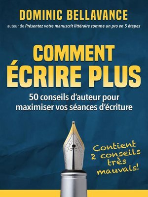 cover image of Comment écrire plus