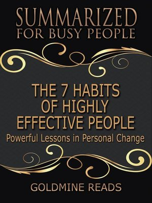 cover image of The 7 Habits of Highly Effective People--Summarized for Busy People