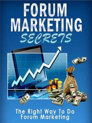 cover image of Forum Marketing Secrets