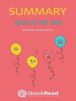 """cover image of Summary of """"Smile or Die"""" by Barbara Ehrenreich"""