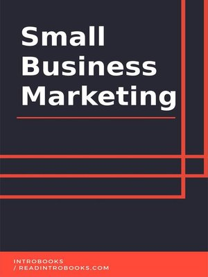 cover image of Small Business Marketing
