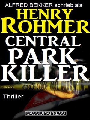 cover image of Central Park Killer