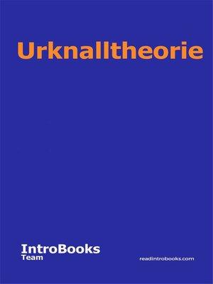 cover image of Urknalltheorie