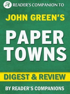 cover image of Paper Towns by John Green | Digest & Review