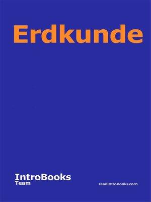 cover image of Erdkunde