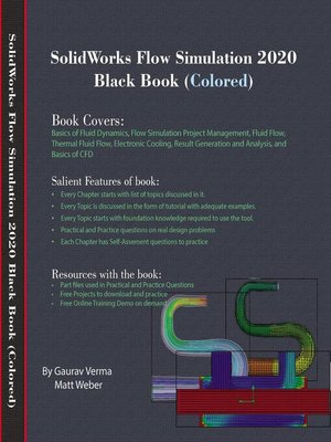 cover image of SolidWorks Flow Simulation 2020 Black Book