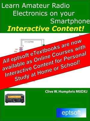 cover image of Learn Amateur Radio Electronics on Your Smartphone