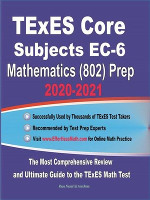 cover image of TExES Core Subjects EC-6 Mathematics (802) Prep 2020-2021