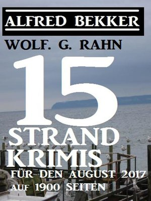 cover image of 15 Strand-Krimis für den August 2017