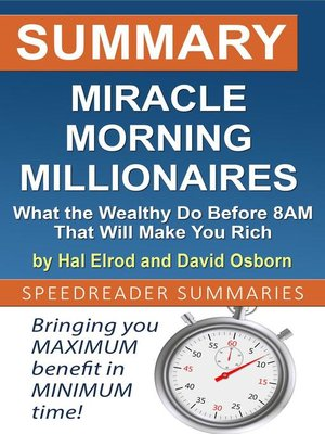 cover image of Summary of Miracle Morning Millionaires