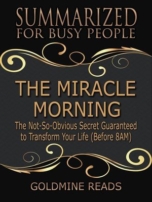 cover image of The Miracle Morning--Summarized for Busy People