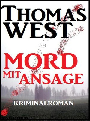 cover image of Mord mit Ansage