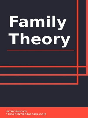 cover image of Family Theory
