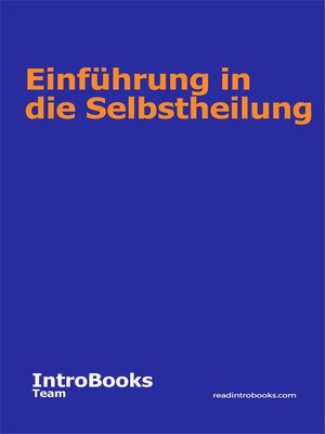 cover image of Einführung in die Selbstheilung