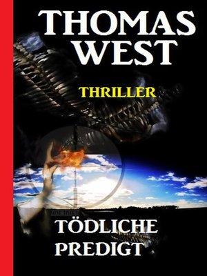 cover image of Tödliche Predigt